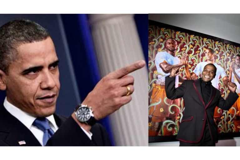 Obama Chooses Nigerian Artist, Kehinde, For His Official Presidential Portrait
