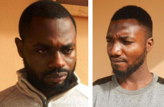 See 2 Yahoo Boys Arrested At Their Base By EFCC In Oyo State