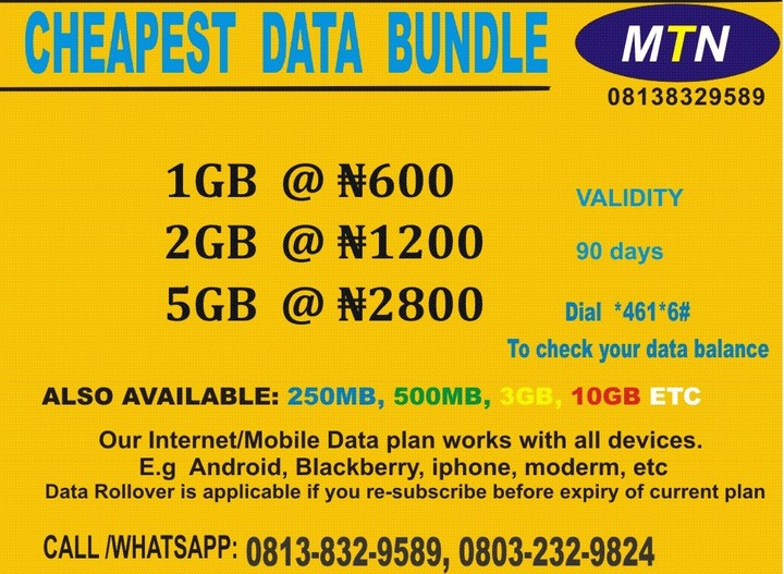 Do You Browse With MTN Line? Get The CheapestInternet Data Plans Here