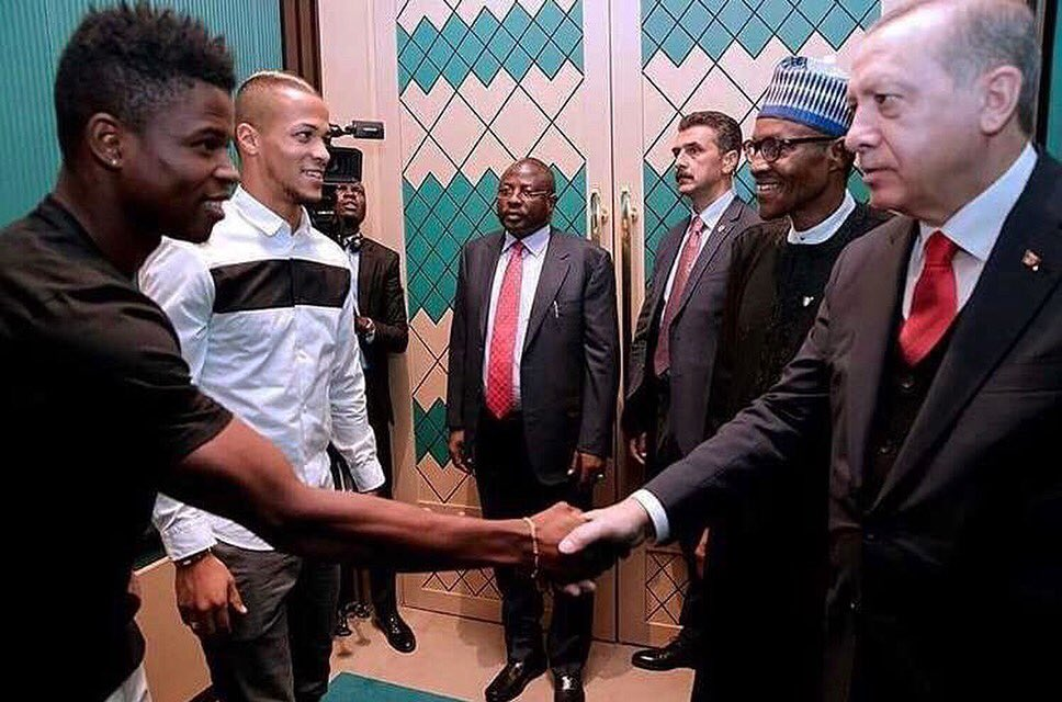 President Buhari Meets Super Eagles Stars Playing In Turkish League (Photos)