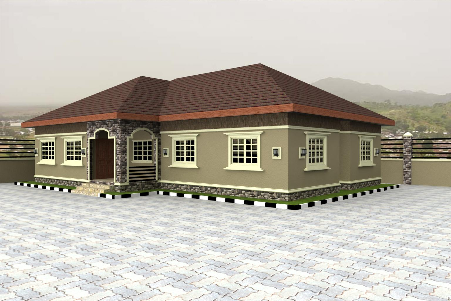 Home plans for bungalows in nigeria properties 4 for 5 bedroom bungalow house plans