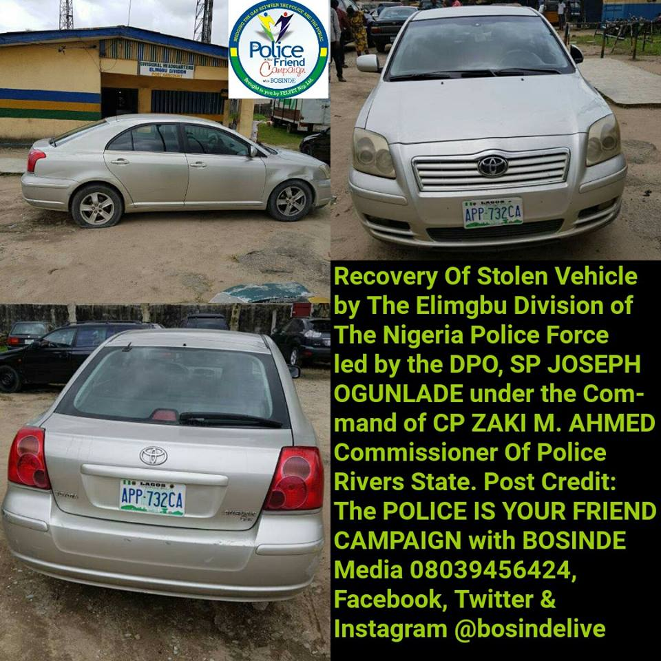 Hoodlums Abandon Vehicle After Snatching It At Gun Point In Rivers State