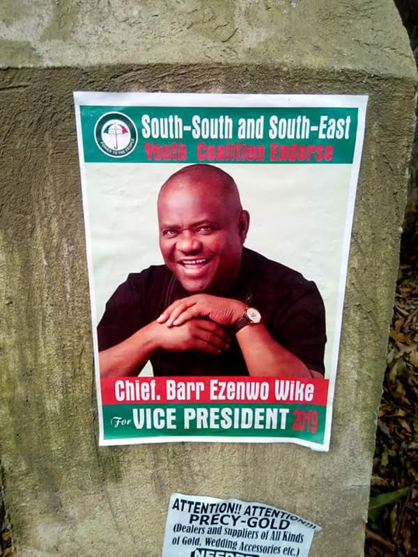 6147095 fbimg1508757139383 jpeg589fbd1915e651f0ebca188217d5be2b - Governor Wike For 2019 Vice President' Posters Spotted In Abuja ( See Photos)