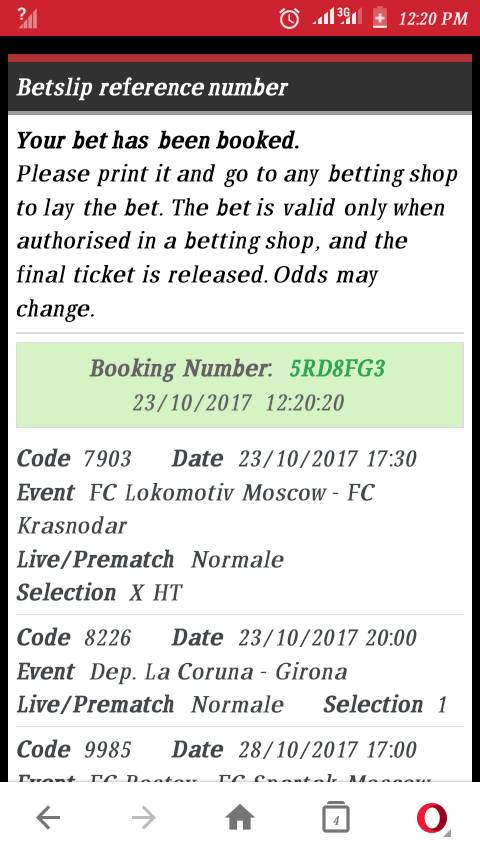 Bet9ja Sure Winning Booking Code For Today October Monday 23/10/2017