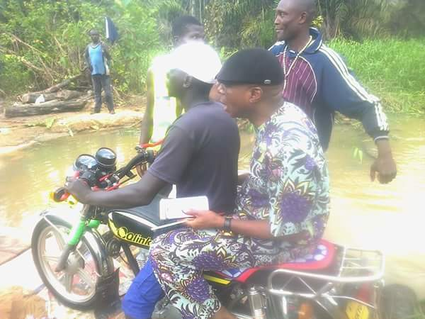 Senator James Ebiowou On Motorcycle In His Hometown In Delta (Photos)