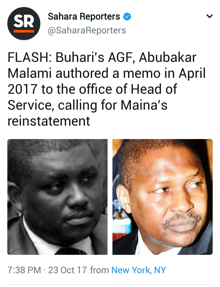 More Revelations On Maina's Reinstatement By Sahara Reporters (Photos)