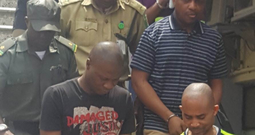 Photos Of Billionaire Kidnapper, Evans Smiling In Handcuffs As He Arrives Court Today