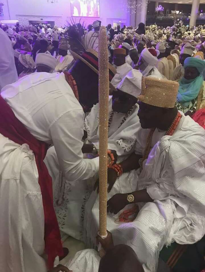 Ayiri Emami Greeting Dignitaries At Saraki's Daughter's Wedding