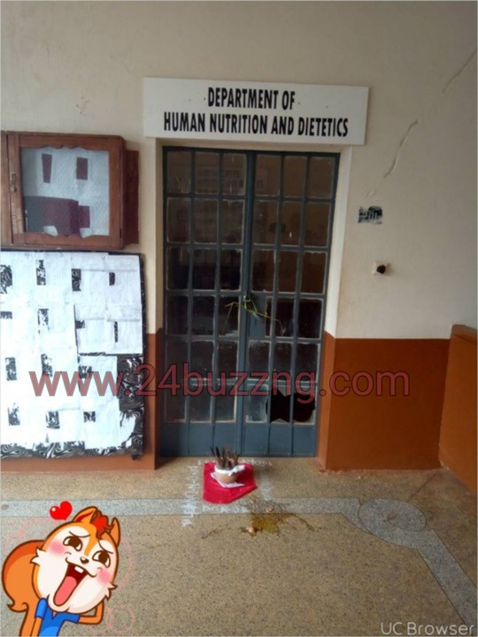 UNN Students Place Juju In Front Of Lecturers' Office (Photo)