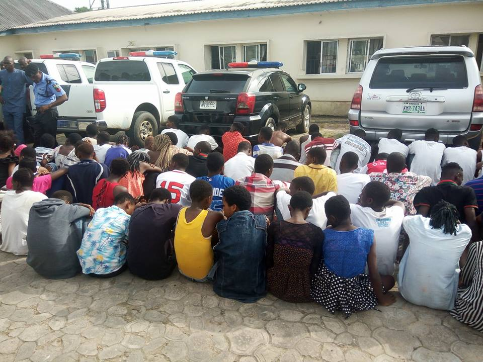 70 Teenagers Arrested In Yenagoa During Raid. See What Police Will Do To Them