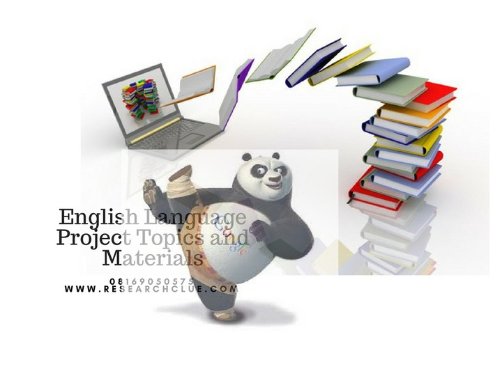 project topics on english language