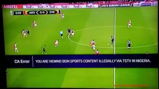 "You Are Viewing Bein Sports Illegally"" - Bein Station Warns TSTV Subscribers (Photo)"