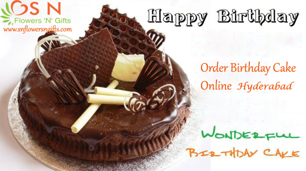 Order Birthday Cake Online Hyderabad Through Snflowersngifts