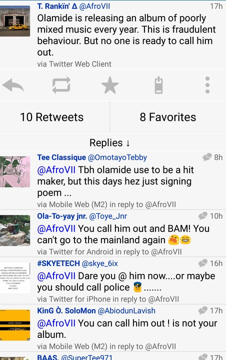 Twitter User: Olamide Albums Poorly Mixed (pics) - Music