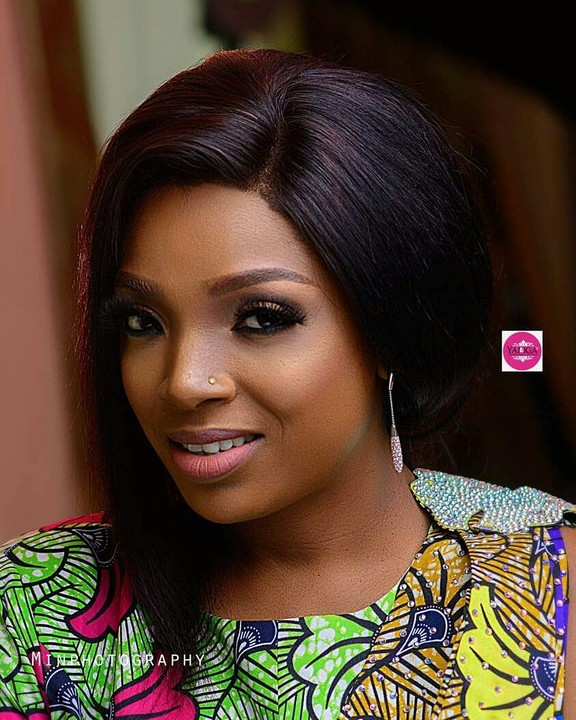 Annie Idibia Looks Gorgeous With Native Dress In New Makeup Photo