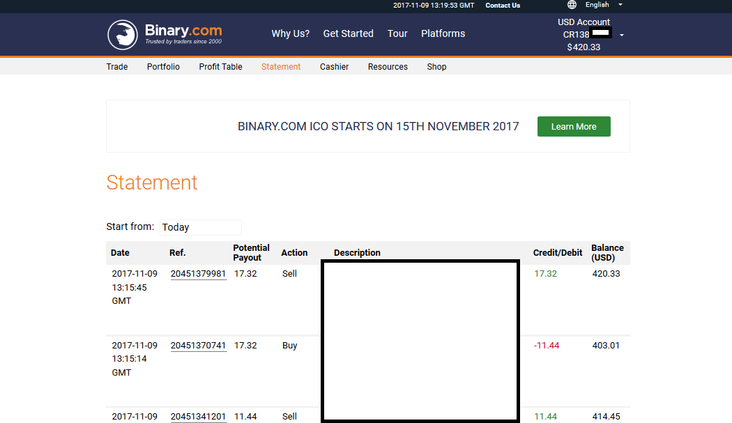 Binary options my balance