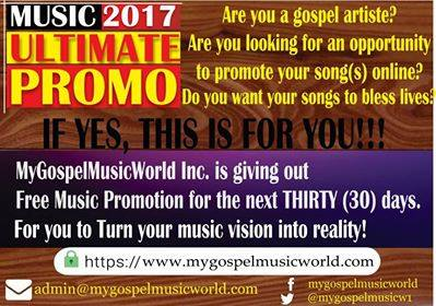 One Year Free Gospel Music Promotion Almost Over  Hurry Now! - Music