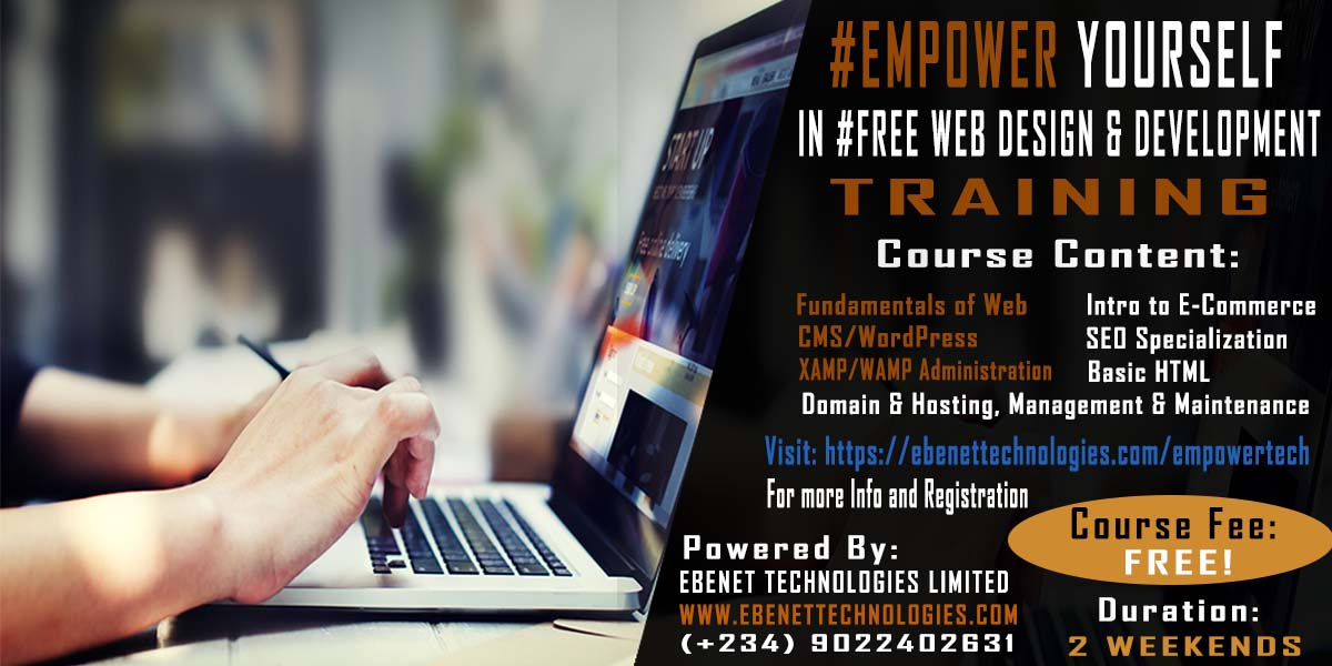 Attend Free Web Design And Development Training In Lagos 100 Practical Career Nigeria