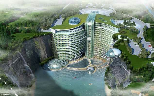 £345million, 19 floors Into The Ground, China To Open Groundscraper Hotel In 2018