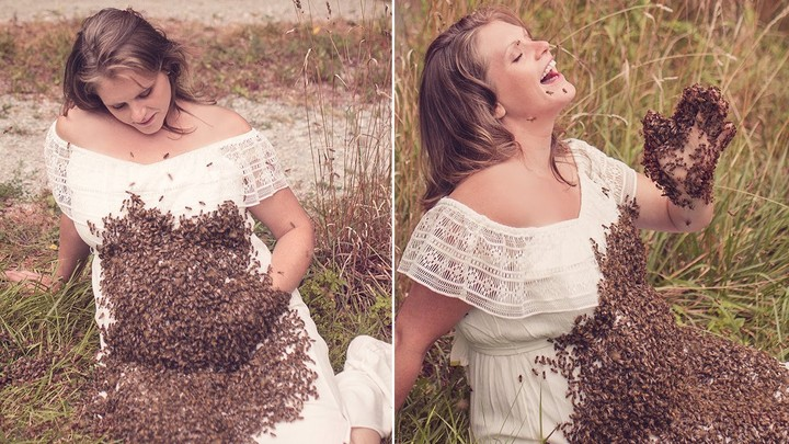 Pregnant Woman Who Posed With 20,000 Bees In Maternity Shoot Had Stillbirth
