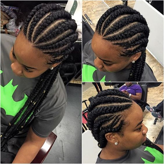 Latest Cornrow Hairstyles 2018 For Black Women