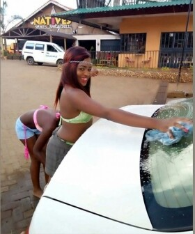 Image result for Car Wash Where Ladies In Bikinis Wash Cars Opens In Kenya