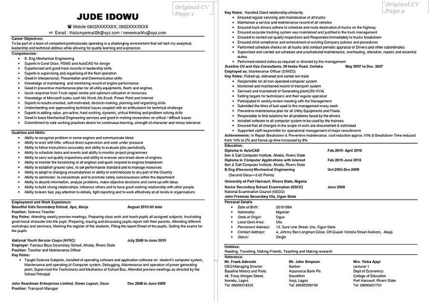 profile cleaner examples cv - Cv Profile Examples Student