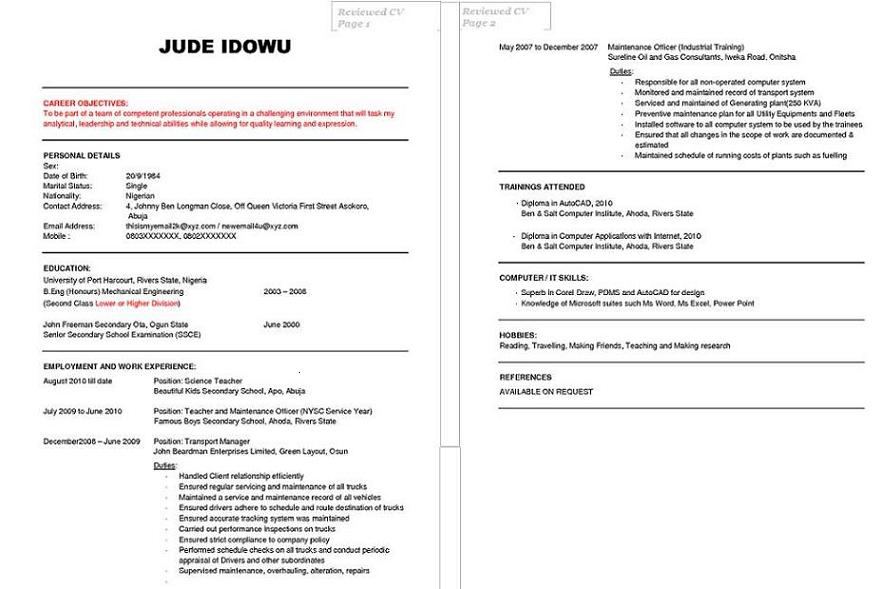 free cv review for students jobseekers jobs vacancies 2