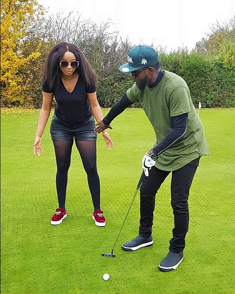 Photos:Ay Comedian Plays Golf With Lanre Makun And His Female Manager