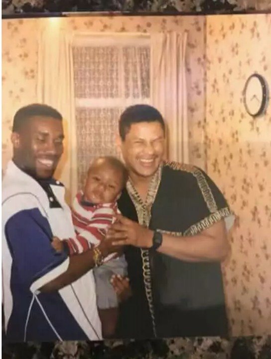 Jay-Jay Okocha Carries Alex Iwobi As A Baby (Throwback Photo)