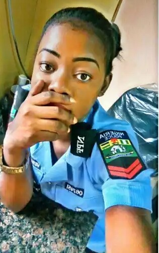 Nigerian Policewoman Releases Half-Unclad Photos To Celebrate Her Birthday