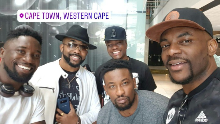 Banky W Pictured With His Groomsmen In Cape Town Ahead Of His White Wedding