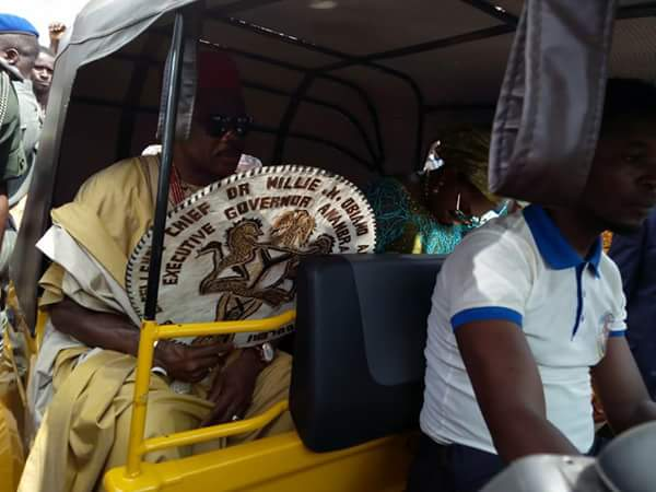 Obiano & Wife On Victory Road March To Thank Anambra People For Their Support