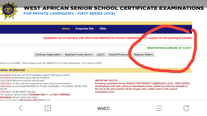 WAEC Introduces New WASSCE Diet For Private Candidates