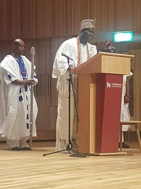 Birmingham City University Hosts Ooni Of Ife As Ooni Speaks At Chatham House(pix