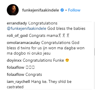 FUNKE AKINDELE WELCOMES TWINS? FANS CONGRATULATE A-LIST ACTRESS (PHOTOS)