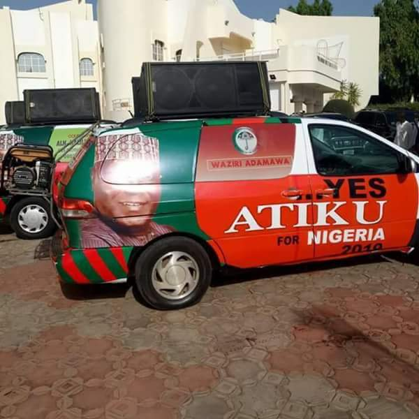 BRANDED ATIKU FOR PRESIDENT 2019 VEHICLES CARRYING PDP
