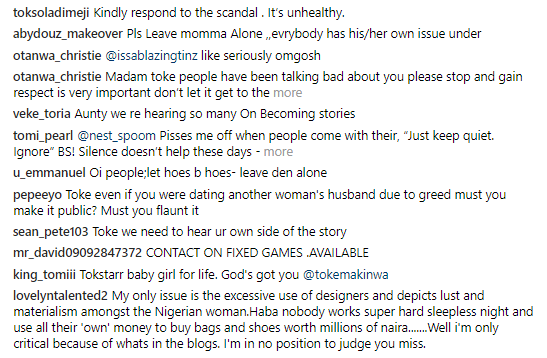 Toke Makinwa, Respond To Festus Fadeyi Scandal - Fans Urge OAP, Call Her Olosho - Celebrities