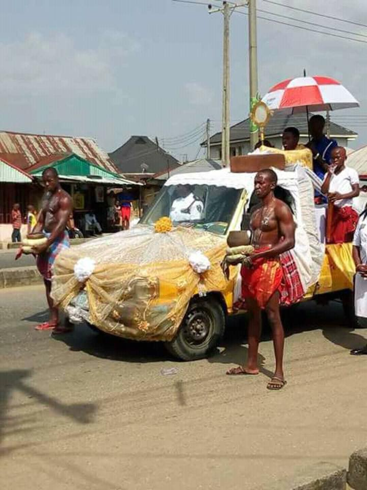 A Catholic Priest Celebrates Christ In A Traditional Way In Anambra