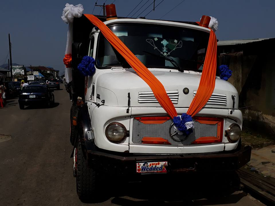 Couple Parade In A Truck In Uyo After Their Wedding (Photos) - Events