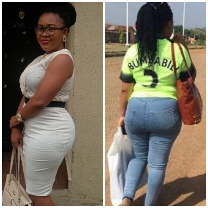 "LORD!!!: Curvy Female Corper Nicknamed ""Aunty Ass"" Flogs Student Who Asked Her Out (Photos)"