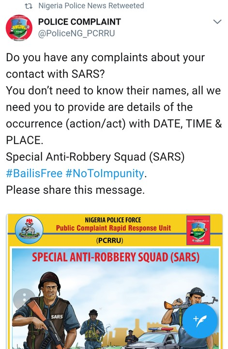 Police Provide Contact Details for Complaints Against SARS