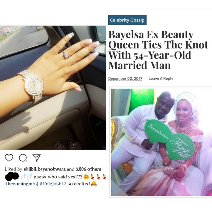 Bayelsa Ex Beauty Queen & Harrysong's Ex Weds 54-Year-Old Married Man (Photos)