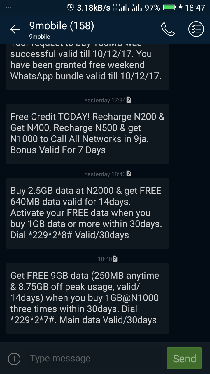 9mobile Introduces New Data Packages - Phones - Nigeria