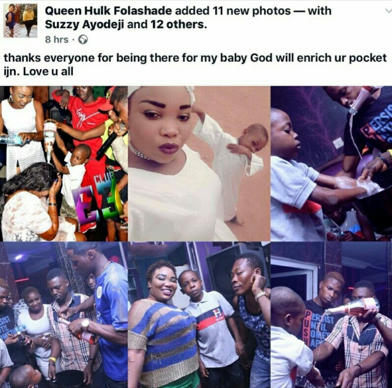 SHOCKING!!!  Lady Celebrates Her Underaged Son's Birthday At A Night Club In Ibadan