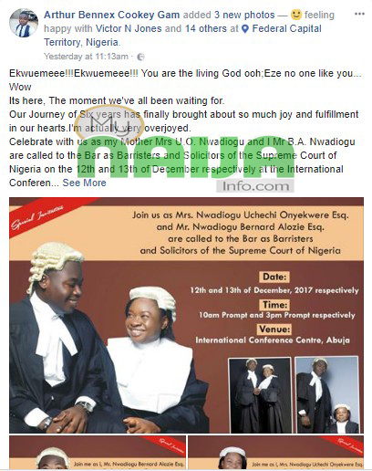 Mother And Son Called To Bar Same Day (Photos)