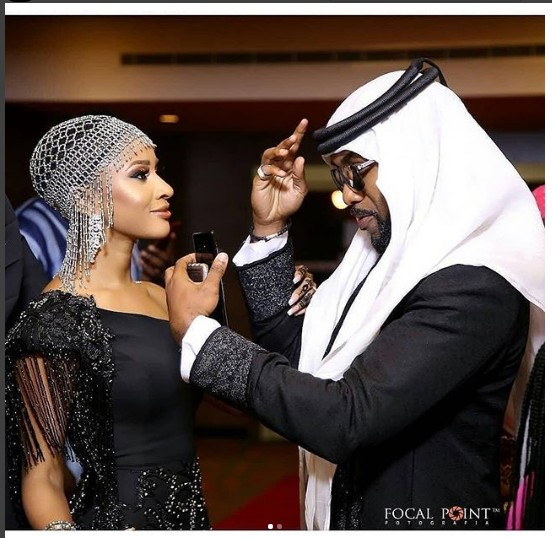 "Banky W & Adesua Loved Up In Arabian Outfit At ""The Wedding Party 2"" Premiere"