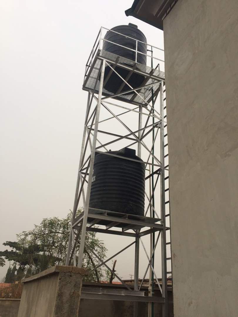 Anti Rust Water Stanchion Tank Stand Water Tower