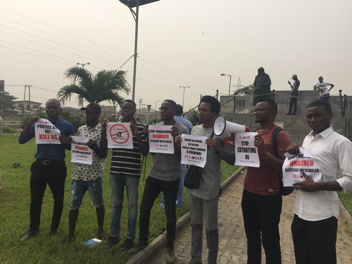 """""""Having Iphone, Laptop Doesn't Make One Criminal"""": #EndSARS Protest In Lagos (Pics)"""