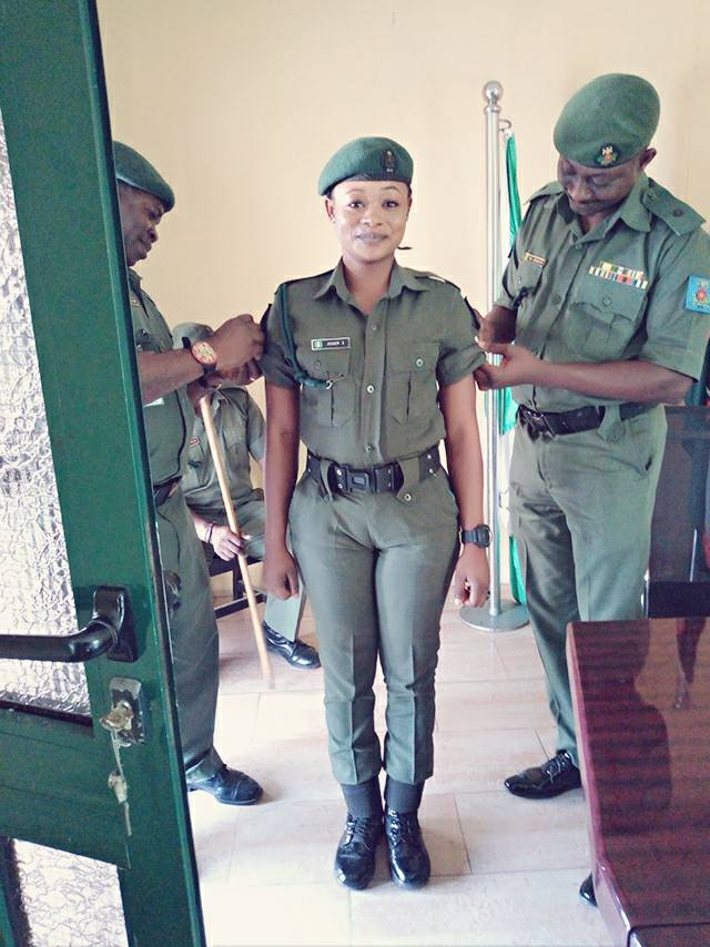 janet john  pretty soldier promoted in the nigerian army